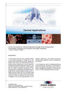 "Factsheet ""Dermal applications"""