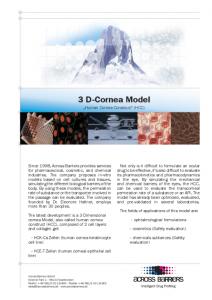 "Factsheet ""3 D-Cornea Model"""